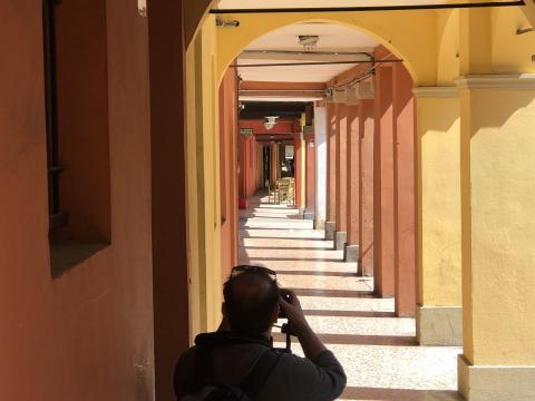 Fotografando i portici di Santa Caterina